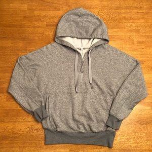 Free People FP Movement Gray Hooded Sweatshirt